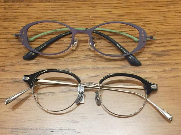 個性的なメガネ